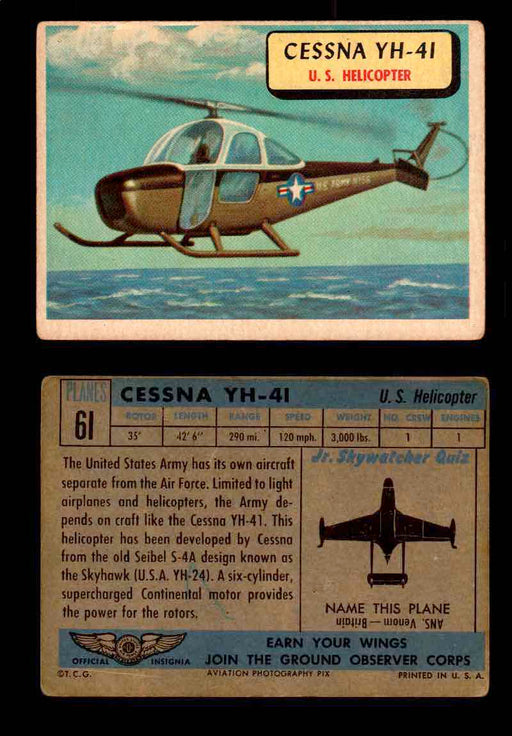 1957 Planes Series II Topps Vintage Card You Pick Singles #61-120 #61  - TvMovieCards.com
