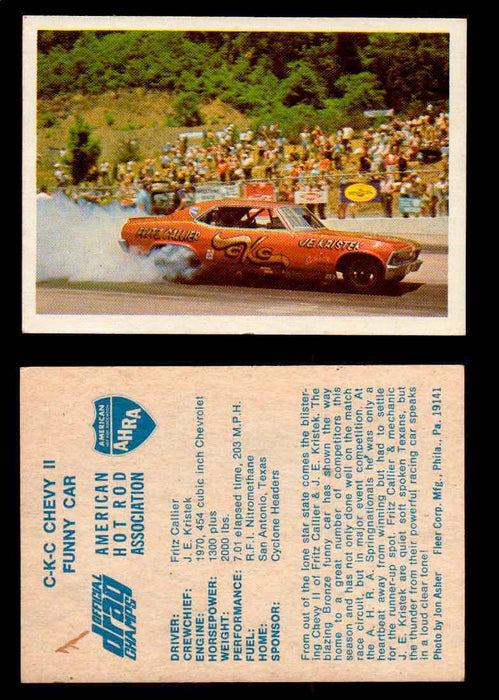 AHRA Official Drag Champs 1971 Fleer Vintage Trading Cards You Pick Singles 62   C-K-C Chevy II                                   Funny Car  - TvMovieCards.com