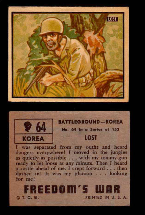 1950 Freedom's War Korea Topps Vintage Trading Cards You Pick Singles #1-100 #64  - TvMovieCards.com