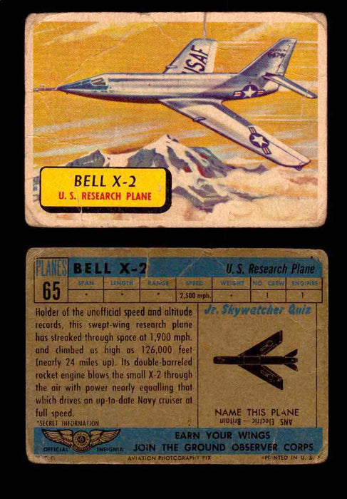 1957 Planes Series II Topps Vintage Card You Pick Singles #61-120 #65  - TvMovieCards.com