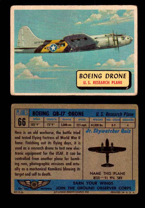 1957 Planes Series II Topps Vintage Card You Pick Singles #61-120 #66  - TvMovieCards.com