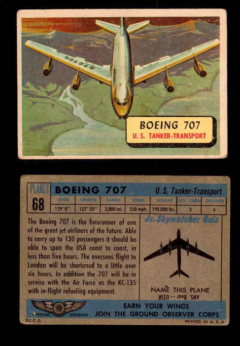 1957 Planes Series II Topps Vintage Card You Pick Singles #61-120 #68  - TvMovieCards.com