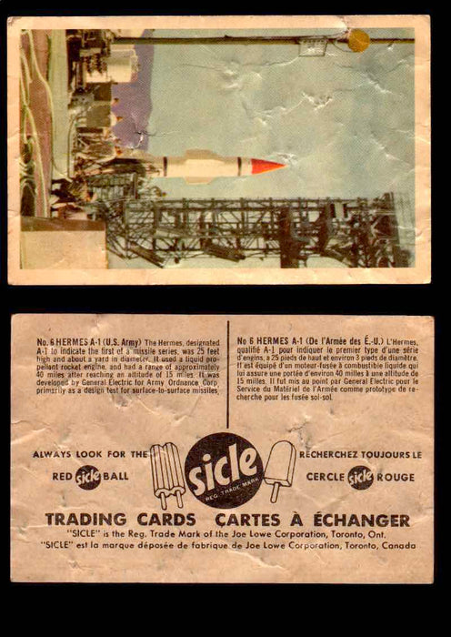 1959 Sicle Aircraft & Missile Canadian Vintage Trading Card U Pick Singles #1-25 #6 Hermes A-1  - TvMovieCards.com