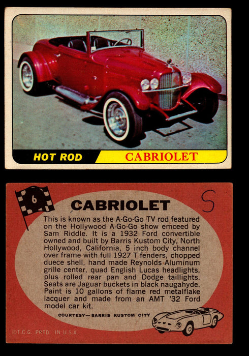 Hot Rods Topps 1968 George Barris Vintage Trading Cards You Pick Singles #6 Cabriolet  - TvMovieCards.com