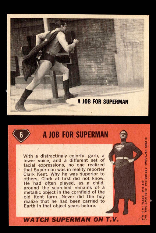 1966 Superman Topps Vintage Trading Cards You Pick Singles #1-66 #6  - TvMovieCards.com