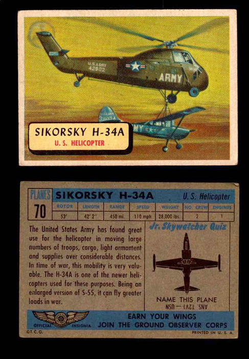 1957 Planes Series II Topps Vintage Card You Pick Singles #61-120 #70  - TvMovieCards.com