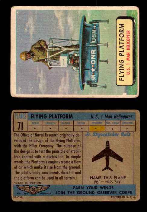 1957 Planes Series II Topps Vintage Card You Pick Singles #61-120 #71  - TvMovieCards.com