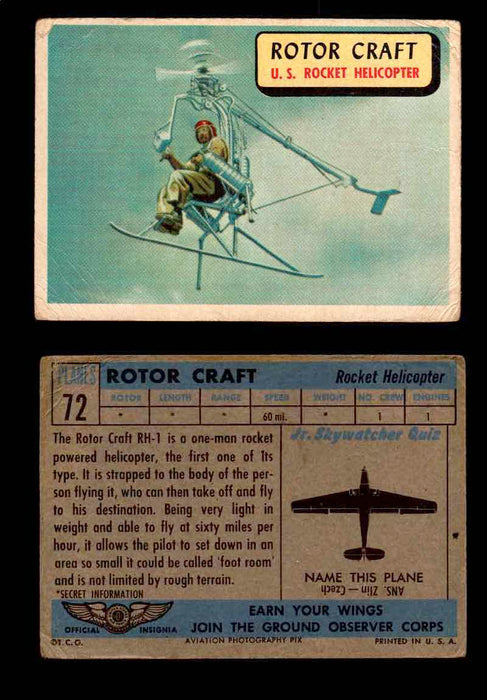1957 Planes Series II Topps Vintage Card You Pick Singles #61-120 #72  - TvMovieCards.com