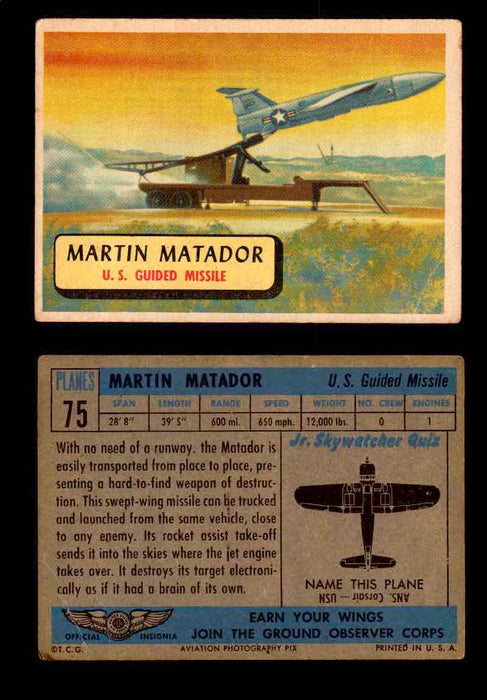 1957 Planes Series II Topps Vintage Card You Pick Singles #61-120 #75  - TvMovieCards.com