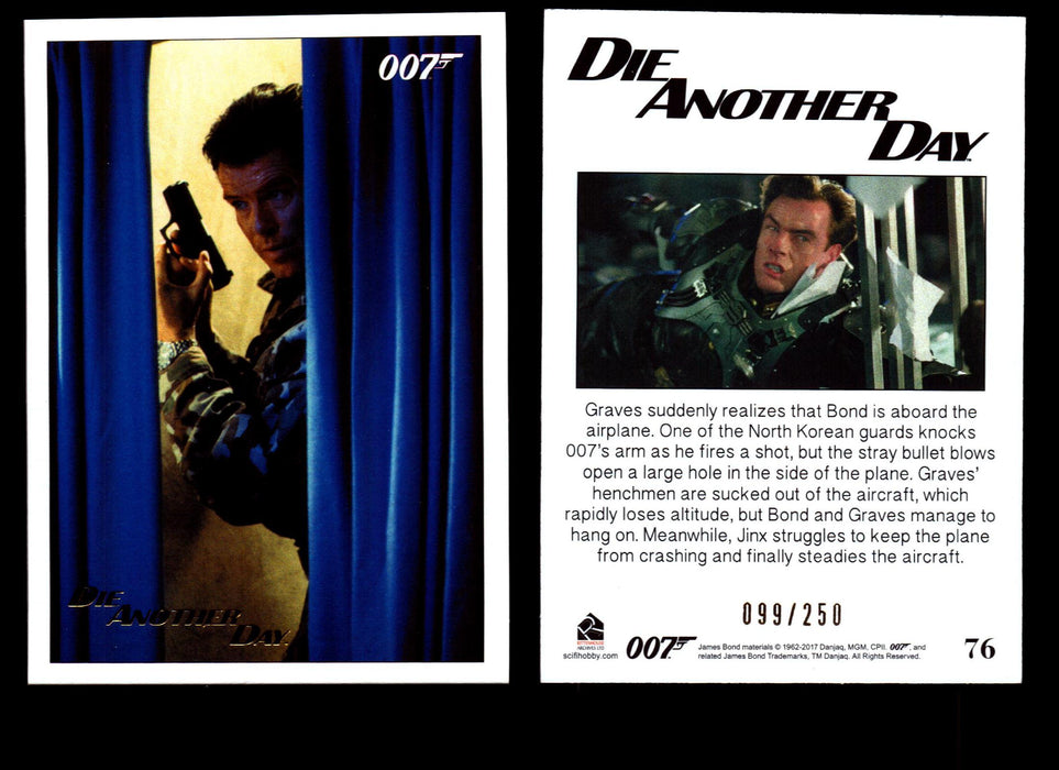 Die Another Day Gold Stamped Base Card #36 James Bond Archives 2017 Final Ed