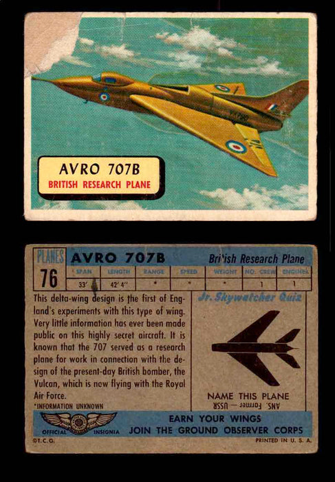 1957 Planes Series II Topps Vintage Card You Pick Singles #61-120 #76  - TvMovieCards.com