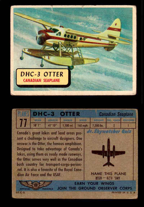 1957 Planes Series II Topps Vintage Card You Pick Singles #61-120 #77  - TvMovieCards.com
