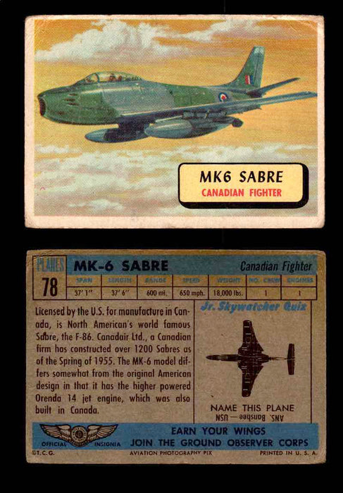 1957 Planes Series II Topps Vintage Card You Pick Singles #61-120 #78  - TvMovieCards.com