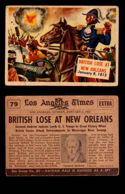 1954 Scoop Newspaper Series 2 Topps Vintage Trading Cards U Pick Singles #78-156 79   British Lose at New Orleans  - TvMovieCards.com