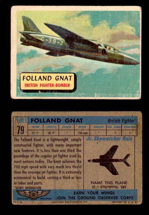 1957 Planes Series II Topps Vintage Card You Pick Singles #61-120 #79  - TvMovieCards.com