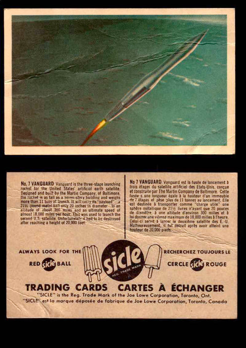 1959 Sicle Aircraft & Missile Canadian Vintage Trading Card U Pick Singles #1-25 #7 Vanguard  - TvMovieCards.com