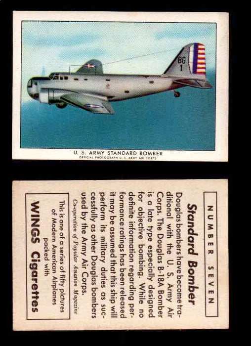 1940 Modern American Airplanes Series 1 Vintage Trading Cards Pick Singles #1-50 7 U.S. Army Standard Bomber (Douglas B-18A)  - TvMovieCards.com