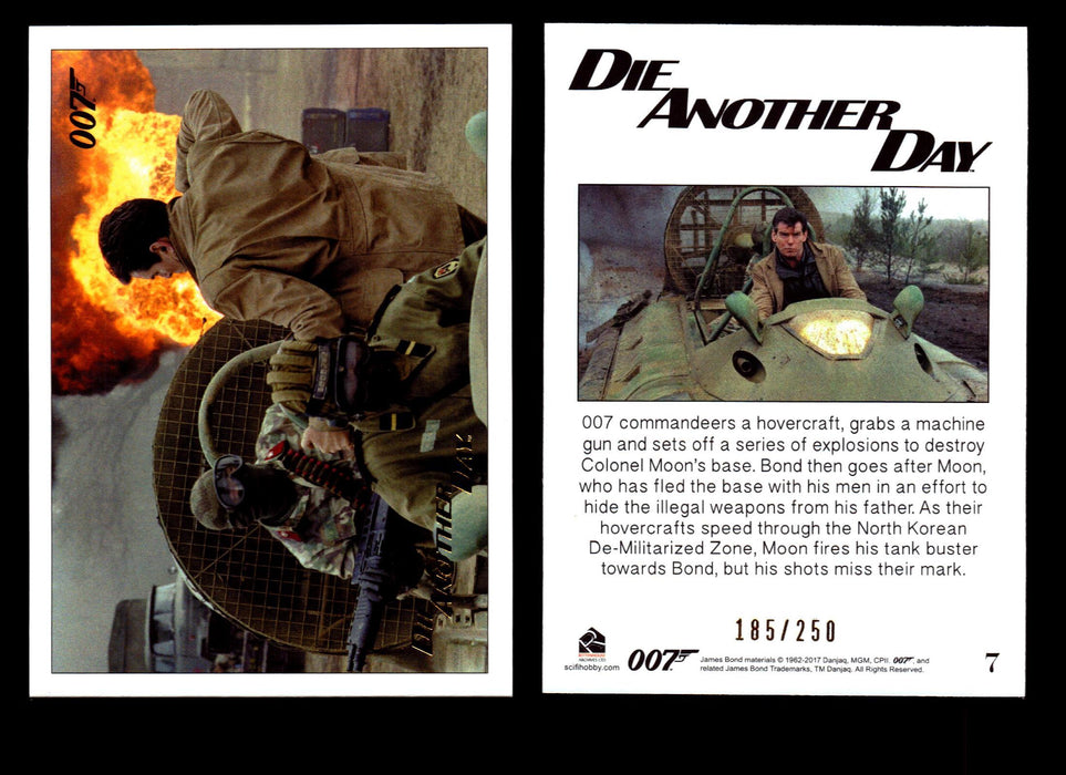 Die Another Day Gold Stamped Base Card #71 James Bond Archives 2017 Final Ed