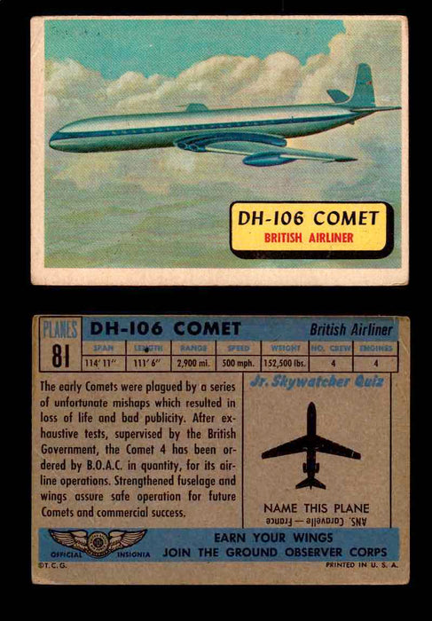 1957 Planes Series II Topps Vintage Card You Pick Singles #61-120 #81  - TvMovieCards.com