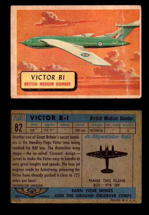 1957 Planes Series II Topps Vintage Card You Pick Singles #61-120 #82  - TvMovieCards.com