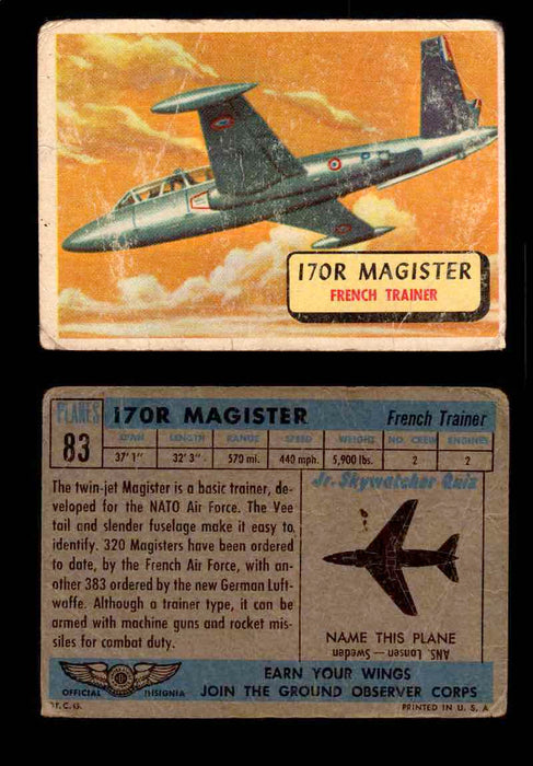 1957 Planes Series II Topps Vintage Card You Pick Singles #61-120 #83  - TvMovieCards.com