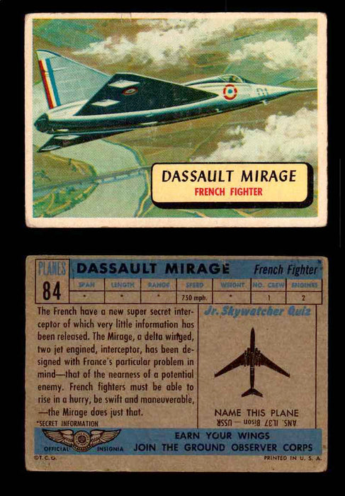 1957 Planes Series II Topps Vintage Card You Pick Singles #61-120 #84  - TvMovieCards.com