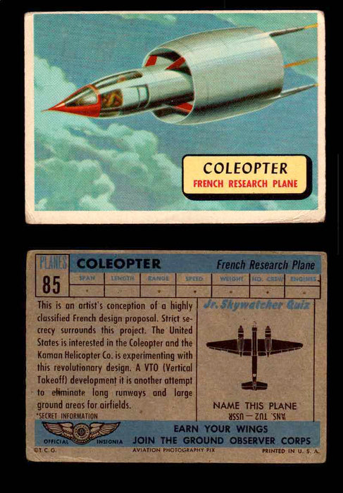 1957 Planes Series II Topps Vintage Card You Pick Singles #61-120 #85  - TvMovieCards.com
