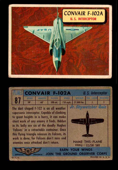 1957 Planes Series II Topps Vintage Card You Pick Singles #61-120 #87  - TvMovieCards.com