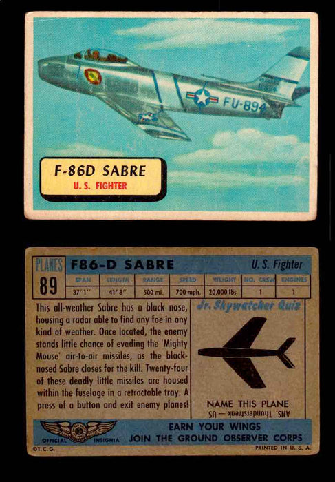 1957 Planes Series II Topps Vintage Card You Pick Singles #61-120 #89  - TvMovieCards.com