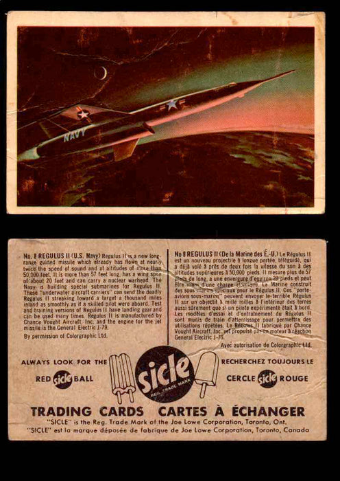 1959 Sicle Aircraft & Missile Canadian Vintage Trading Card U Pick Singles #1-25 #8 Regulus II  - TvMovieCards.com