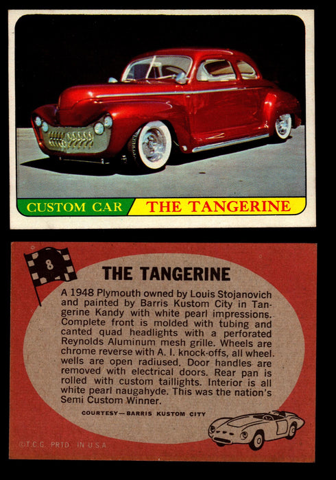 Hot Rods Topps 1968 George Barris Vintage Trading Cards You Pick Singles #8 The Tangerine  - TvMovieCards.com