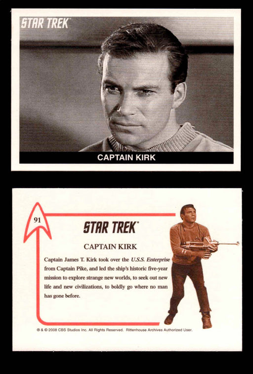 Star Trek TOS 40th Anniversary S2 1967 Expansion Card You Pick Singles #91-108 #91    Captain Kirk  - TvMovieCards.com