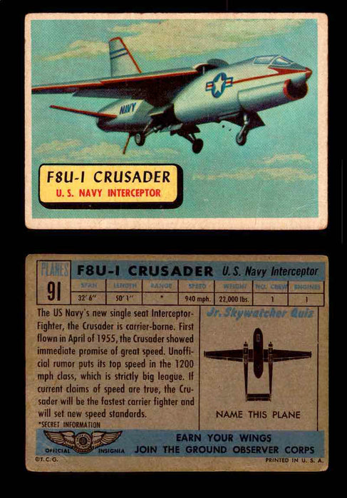 1957 Planes Series II Topps Vintage Card You Pick Singles #61-120 #91  - TvMovieCards.com
