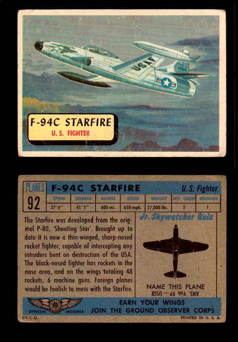1957 Planes Series II Topps Vintage Card You Pick Singles #61-120 #92  - TvMovieCards.com