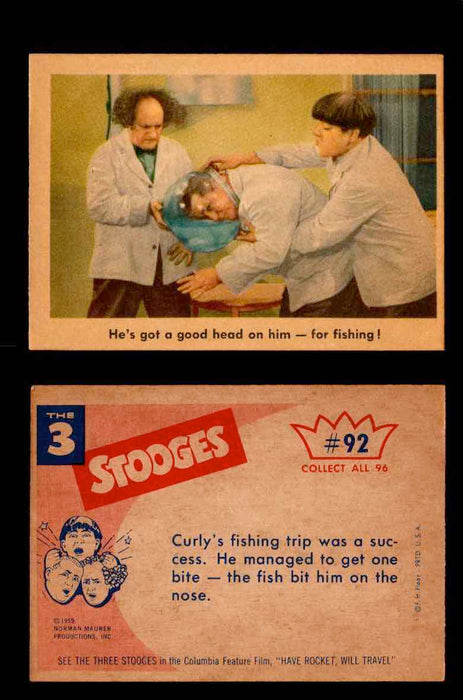 1959 Three 3 Stooges Fleer Vintage Trading Cards You Pick Singles #1-96 #92  - TvMovieCards.com