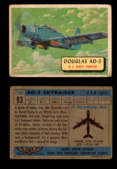 1957 Planes Series II Topps Vintage Card You Pick Singles #61-120 #93  - TvMovieCards.com