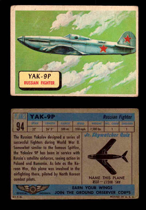 1957 Planes Series II Topps Vintage Card You Pick Singles #61-120 #94  - TvMovieCards.com