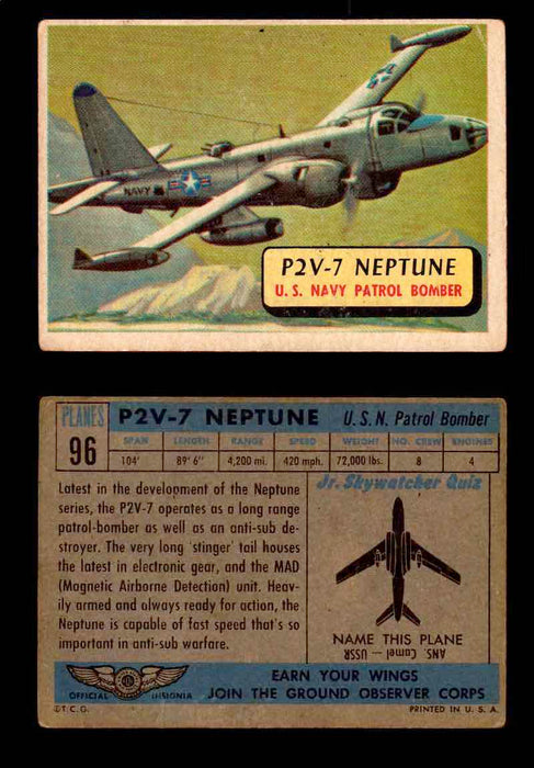 1957 Planes Series II Topps Vintage Card You Pick Singles #61-120 #96  - TvMovieCards.com