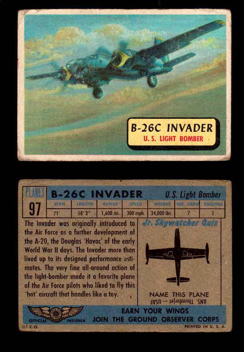 1957 Planes Series II Topps Vintage Card You Pick Singles #61-120 #97  - TvMovieCards.com