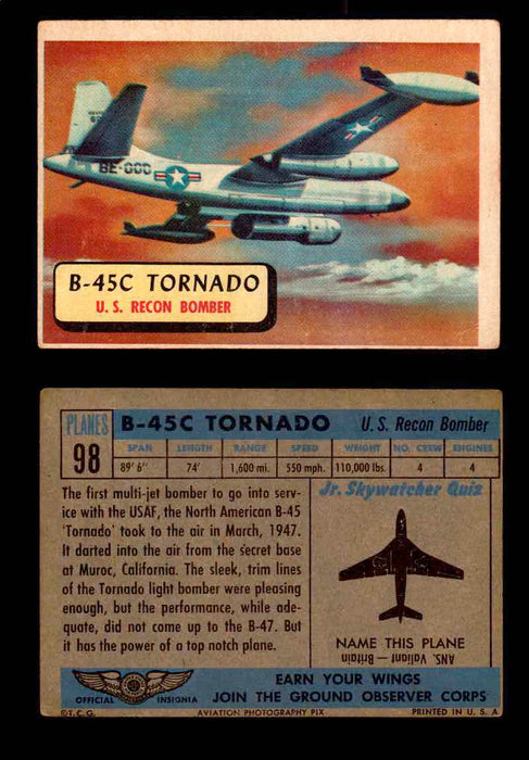 1957 Planes Series II Topps Vintage Card You Pick Singles #61-120 #98  - TvMovieCards.com