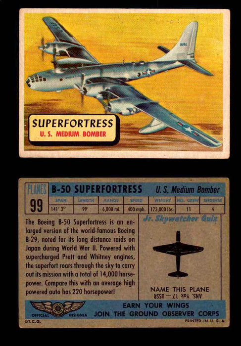 1957 Planes Series II Topps Vintage Card You Pick Singles #61-120 #99  - TvMovieCards.com