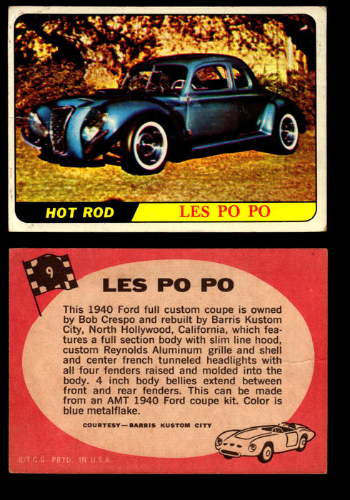 Hot Rods Topps 1968 George Barris Vintage Trading Cards You Pick Singles #9 Les Po Po  - TvMovieCards.com