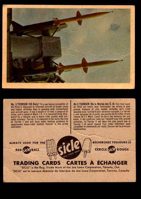 1959 Sicle Aircraft & Missile Canadian Vintage Trading Card U Pick Singles #1-25 #9 Terrier  - TvMovieCards.com