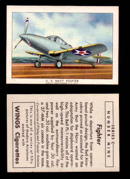 1942 Modern American Airplanes Series C Vintage Trading Cards Pick Singles #1-50 9	 	U.S. Navy Fighter  - TvMovieCards.com