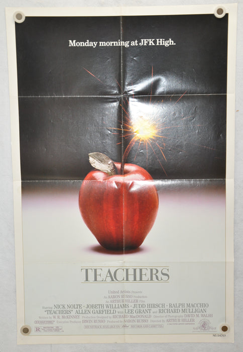 1984 Teachers Original 1SH Movie Poster 27 x 41 Nick Nolte JoBeth Williams   - TvMovieCards.com