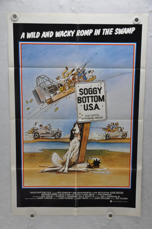 1981 Soggy Bottom U.S.A. Original 1SH Movie Poster 27 x 41 Ben Johnson, Dub Taylor, Ann Wedgeworth   - TvMovieCards.com