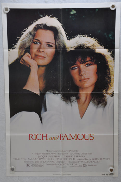 1981 Rich & Famous Original 1SH Movie Poster 27 x 41 Jacqueline Bisset, Candice   - TvMovieCards.com