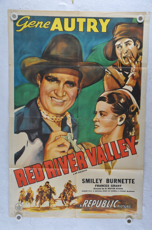 Red River Valley Original 1SH Movie Poster 27 x 41  Gene Autry, Smiley Burnette,   - TvMovieCards.com