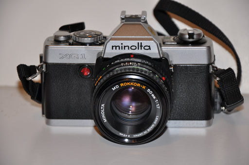Minolta XG-1 35mm Film Camera with MD Rokkor-X 50mm 1:1.7 Lens Very Nice   - TvMovieCards.com