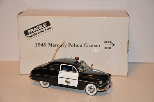 DANBURY MINT 1:24 Diecast Model Car 1949 Mercury Police Cruiser   - TvMovieCards.com